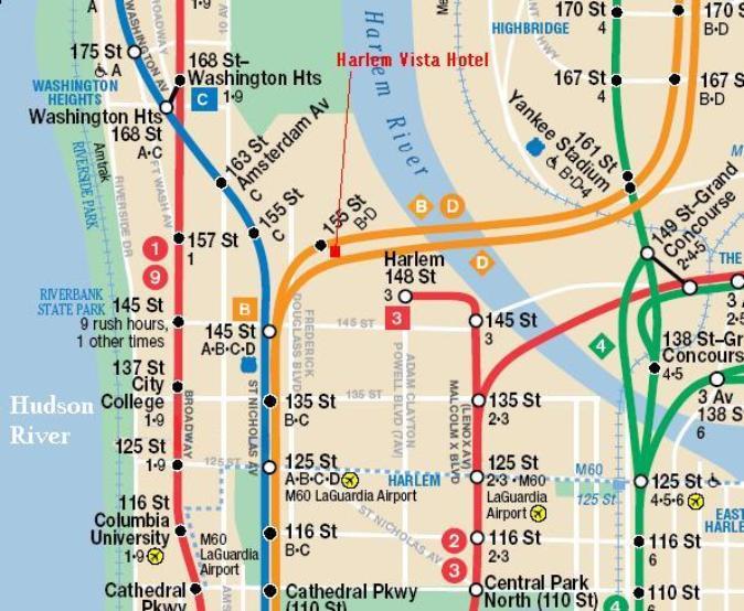 Harlem Subway Map